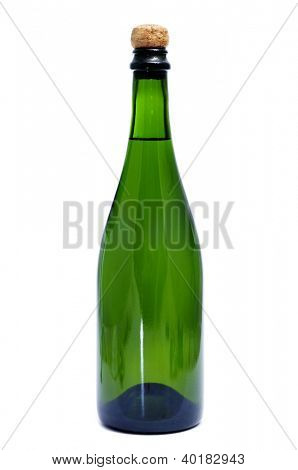 a bottle of cava, the spanish champagne, on a white background