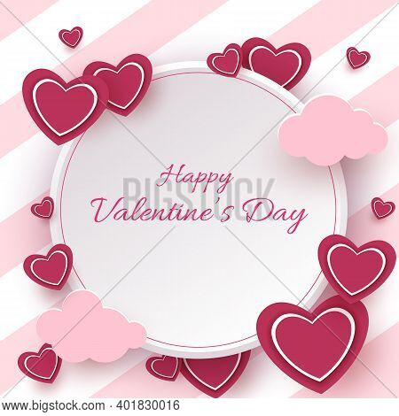 Happy valentines day card with hearts. Valentines day illustration of love background.Valentines day background. Valentine, valentine day, Valentines Day background, Valentine