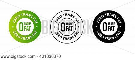 Zero Trans Fat Vector Icon Set, Product Package Design Elements