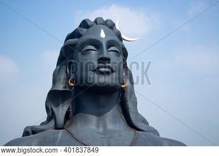 Adiyogi Lord Shiva Statue In Isha Yoga Coimbatore, Tamilnadu, India. Lord Siva Statue.