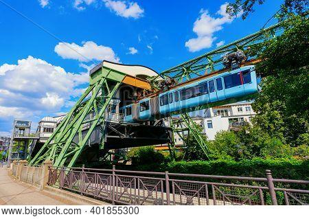 View Of The Schwebebahn In Wuppertal, Germany