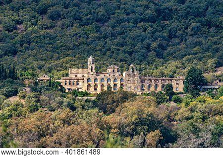 Cordoba, Spain - November 01, 2019: Monastery Of San Jeronimo De Valparaiso Near Medina Azahara, Cor
