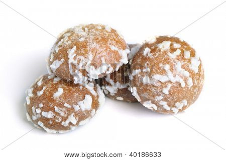 Coconut cookie isolated on white background poster
