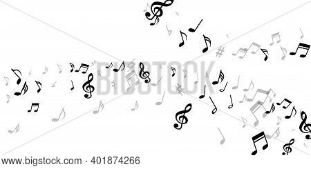Musical Notes Flying Vector Design. Song Notation