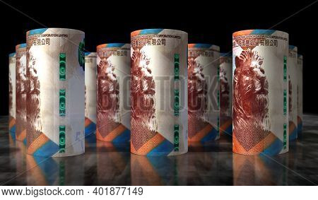 Hong Kong Dollar Money Banknotes Rolls
