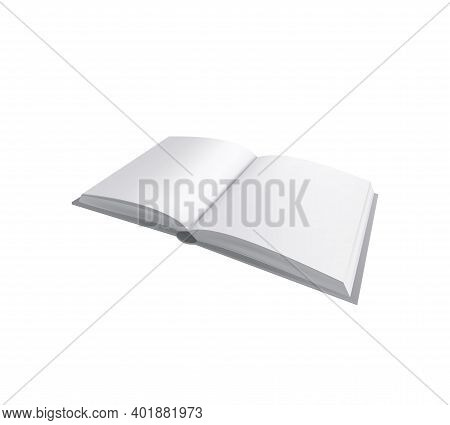 Books Albums Mockup Realistic Composition With Open Lying Album Book Vector Illustration