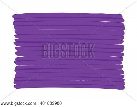 Abstract Vector Purple Background Hand-drawn With Marker Pen. Can Be Repainted In Any Other Color. T