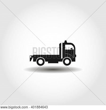 Tow Truck Isolated Vector Icon. Car Service Design Element