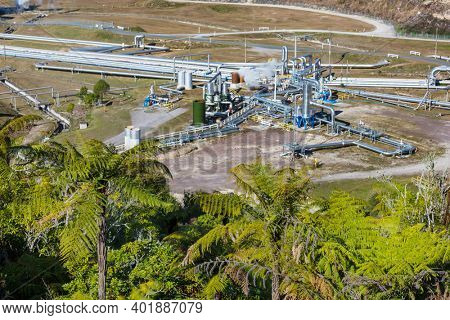 Geothermal Power Plant in  New Zealand
