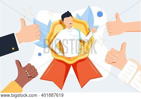 Hr Recognition As Best Candidate Reputation From Recommendations Tiny Person Concept. Symbolic Popul