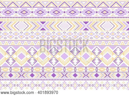 Sacral Tribal Ethnic Motifs Geometric Seamless Background. Unusual Gypsy Geometric Shapes Sprites Tr