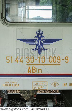 Doboj, Bosnia And Herzegovina - June 3, 2008: Passenger Car Wagon With The Logo Of Zrs. Also Called