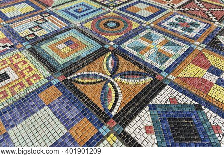 Art Design The Mosaic On The Wall Surface