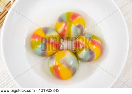 Traditional Chinese Sweet Glutinous Rice Ball Called Tang Yuan