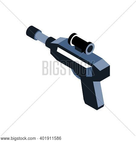 Augmented Reality Gun For Shooter Game 3d Isometric Vector Illustration