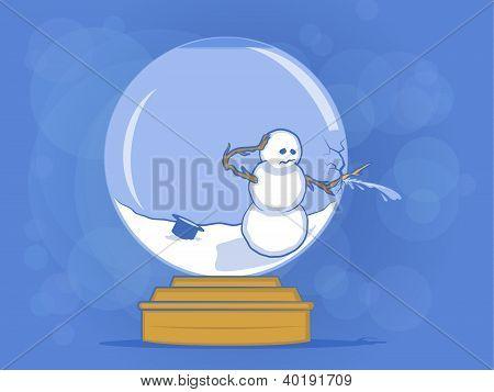 Broken Snow Globe