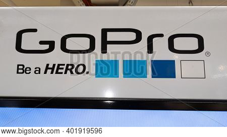 Bordeaux , Aquitaine  France - 12 28 2020 : Gopro Be A Hero Logo And Text Sign Of Best Brand Of Acti