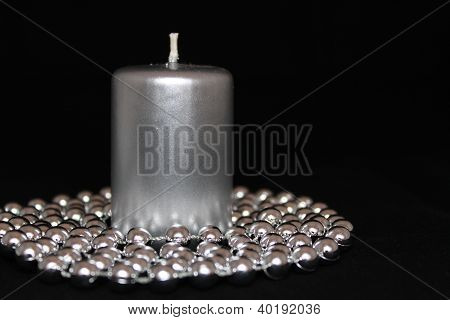 Metallic Christmas candle