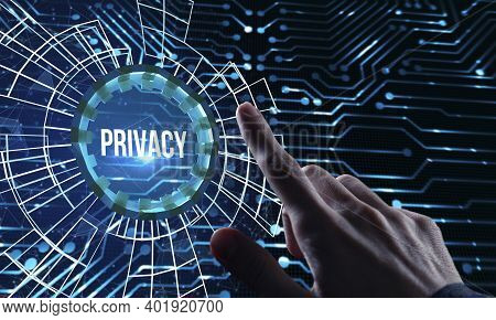Internet, Business, Technology And Network Concept.privacy.