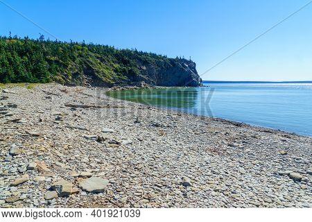 View Of Pebble Beach, Cape Enrage, New Brunswick, Canada