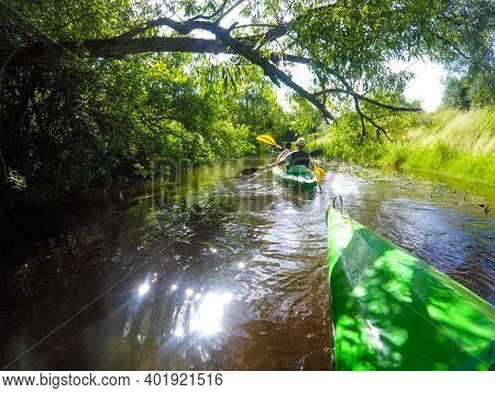 Canoeing In Lithuania, View From The Canoe