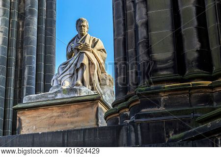 Edinburgh, Great Britain - September 10, 2014: This Is The Monument To The Writer Walter Scott At Th