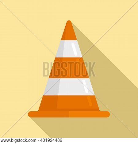 Demolition Road Cone Icon. Flat Illustration Of Demolition Road Cone Vector Icon For Web Design