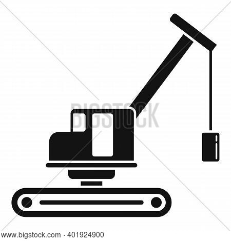 Demolition Excavator Icon. Simple Illustration Of Demolition Excavator Vector Icon For Web Design Is