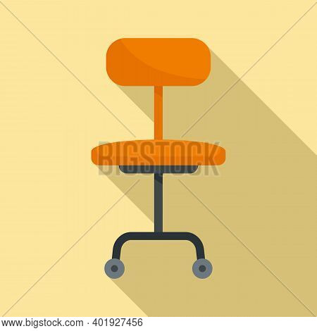 Stylist Chair Icon. Flat Illustration Of Stylist Chair Vector Icon For Web Design