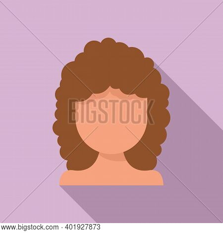 Girl Hair Stylist Icon. Flat Illustration Of Girl Hair Stylist Vector Icon For Web Design