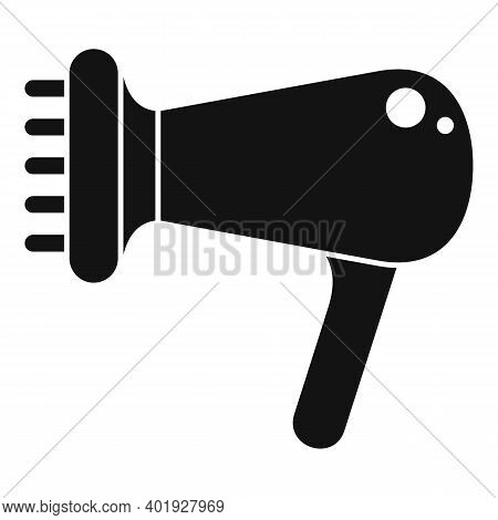 Hair Dryer Icon. Simple Illustration Of Hair Dryer Vector Icon For Web Design Isolated On White Back