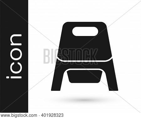 Black Baby Potty Icon Isolated On White Background. Chamber Pot. Vector