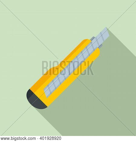 Cutter Hardware Icon. Flat Illustration Of Cutter Hardware Vector Icon For Web Design