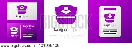 Logotype Pilot Hat Icon Isolated On White Background. Logo Design Template Element. Vector