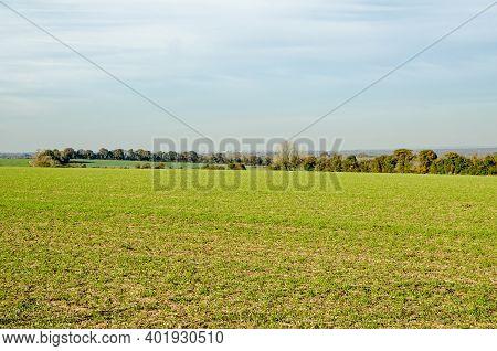 View Across Farmland Near Basingstoke Looking Towards The Atomic Weapons Establishment, Awe Aldermas