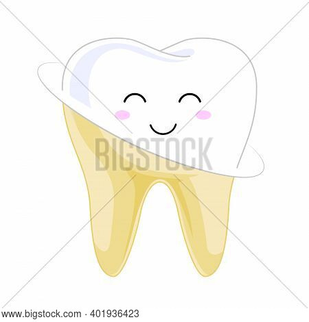 Tooth Veneer Whitening Dental Technician Vector Concept. Healthcare Stomatology And Cleaning Profess