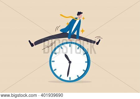 Smart Time Management, Success In Work Strategy On Business Deadline Or Working Time Efficiency Conc