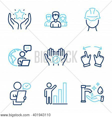 People Icons Set. Included Icon As Graph Chart, Customer Survey, Move Gesture Signs. Ranking, Forema