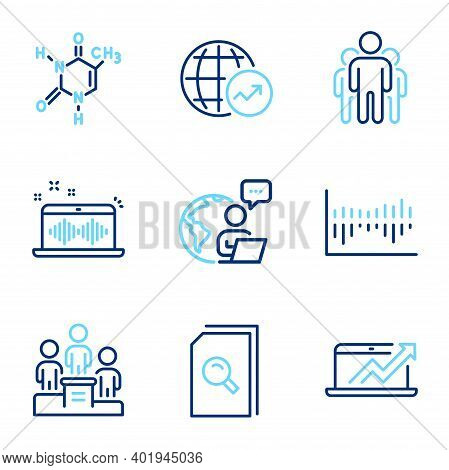 Education Icons Set. Included Icon As Sales Diagram, Music Making, Group Signs. Search Files, World