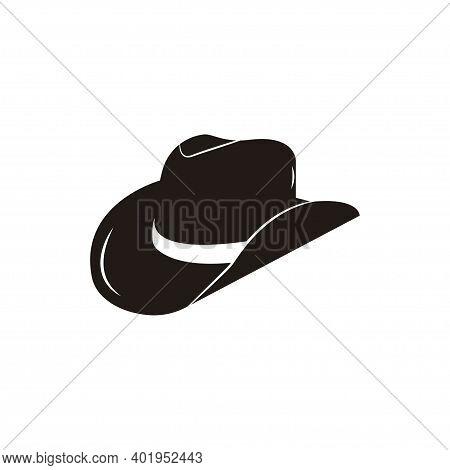 Cowboy Hat Icon Logo Symbol Vector Illustration