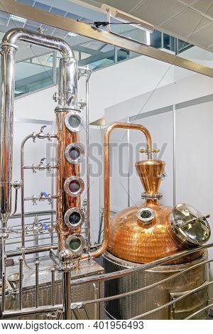 Classic Copper Distilling Alcohol Still Brewery Equipment