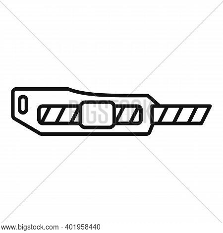 Cutter Sharp Icon. Outline Cutter Sharp Vector Icon For Web Design Isolated On White Background