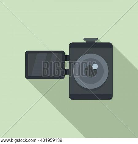 Home Video Camera Icon. Flat Illustration Of Home Video Camera Vector Icon For Web Design