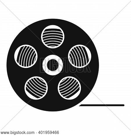 Video Film Reel Icon. Simple Illustration Of Video Film Reel Vector Icon For Web Design Isolated On