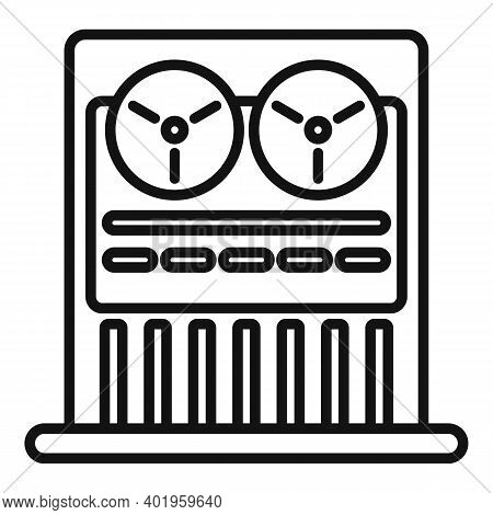 Old Video Recorder Icon. Outline Old Video Recorder Vector Icon For Web Design Isolated On White Bac