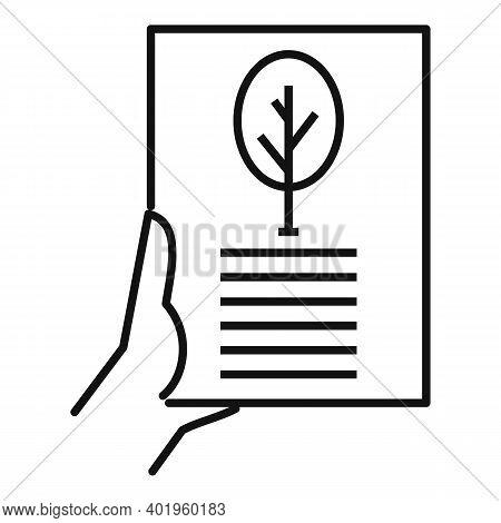 Landscape Design Plan Icon. Outline Landscape Design Plan Vector Icon For Web Design Isolated On Whi