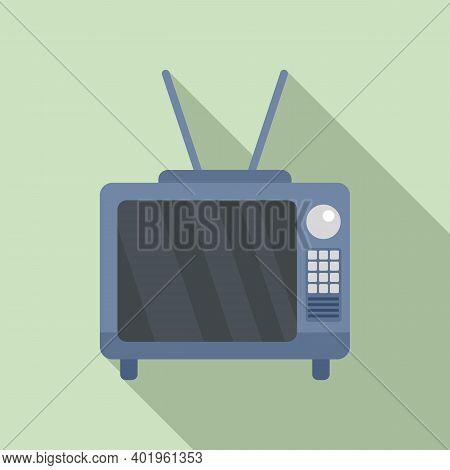 Pr Tv Seticon. Flat Illustration Of Pr Tv Setvector Icon For Web Design