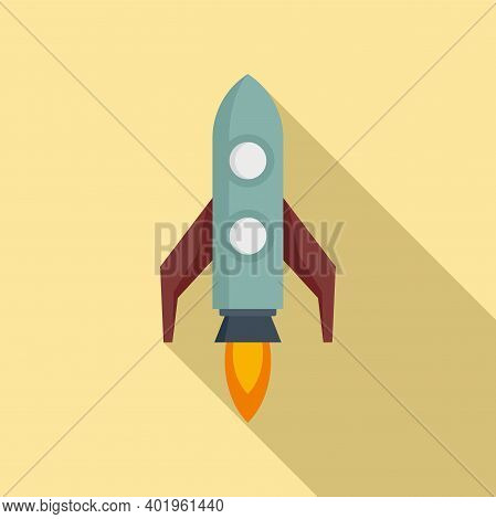 Pr Specialist Rocket Icon. Flat Illustration Of Pr Specialist Rocket Vector Icon For Web Design