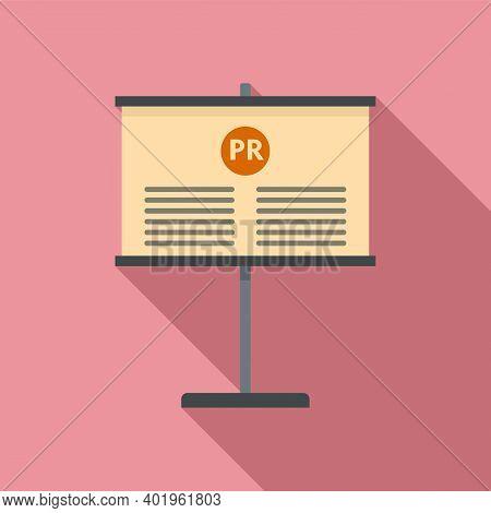 Pr Company Banner Icon. Flat Illustration Of Pr Company Banner Vector Icon For Web Design