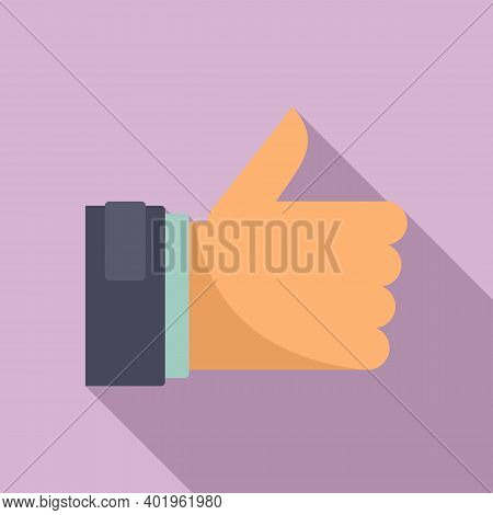 Pr Thumb Up Icon. Flat Illustration Of Pr Thumb Up Vector Icon For Web Design